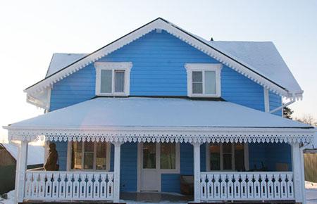Фасад дома с декоративной штукатурки