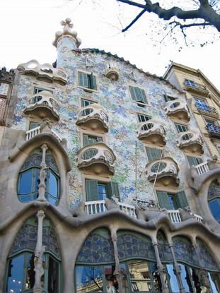Каса Бартльо (Casa Batlló). А.Гауди