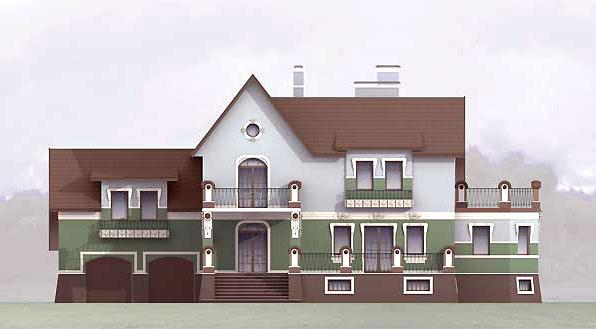 Дом с мансардой : фото реальных домов с