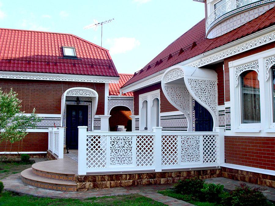 Как украсить фасад дома своими руками 119