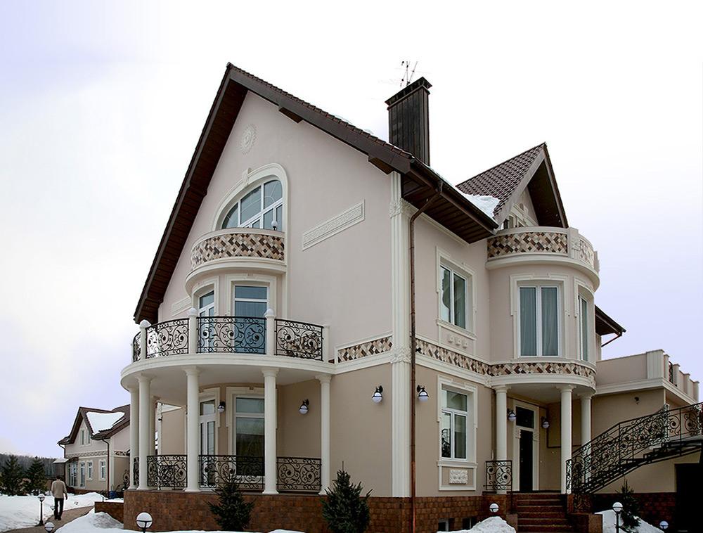 Фасад дома рисунки цветы