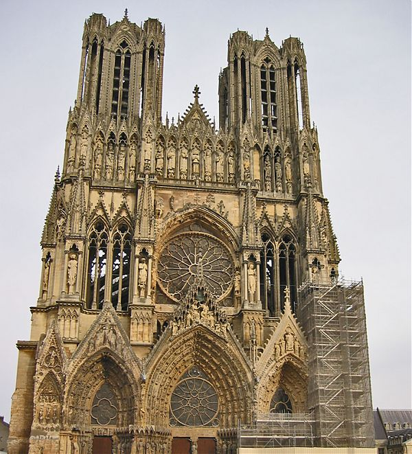 Реймсский собор (Reims Cathedral - Notre-Dame de Reims)