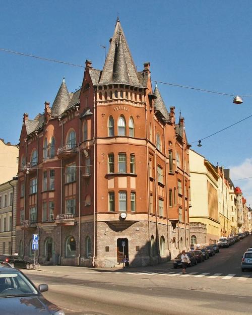 Дом Тальберга. Архитекторы Гезеллиус, Линдгрен, Сааринен. Хельсинки. 1897 – 1898 гг.