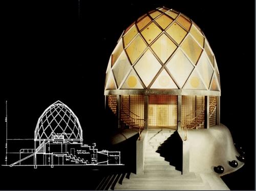 Проект «Стеклянного павильона» на выставке «Немецкого Веркбунда» в Кельне. Архитектор Таут Бруно. 1914 г.