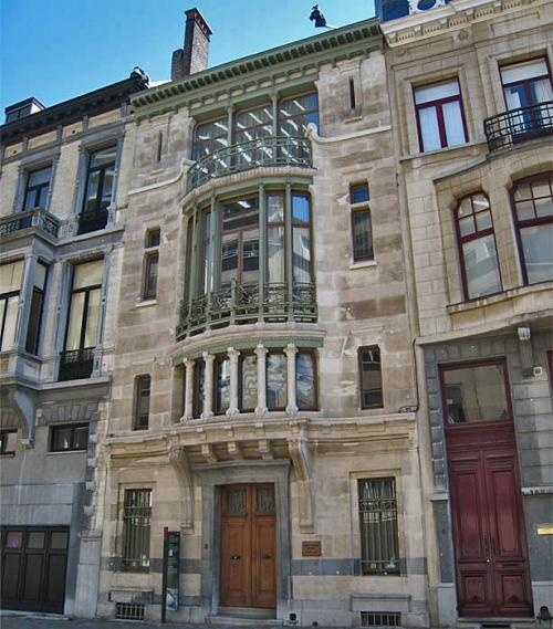 Одно из произведений Орта Дом в Брюсселе – дом Тасселя, 1897-1900 гг.